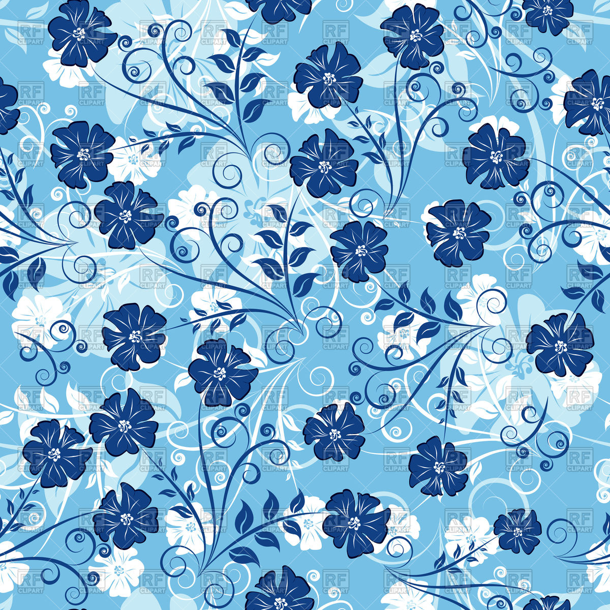 Free Download Blue Floral Background Wwwgalleryhipcom The Hippest
