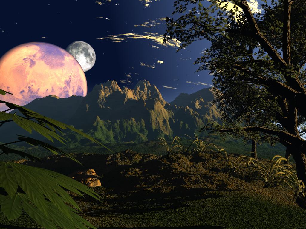 3d desktop wallpaper planet 1024x768