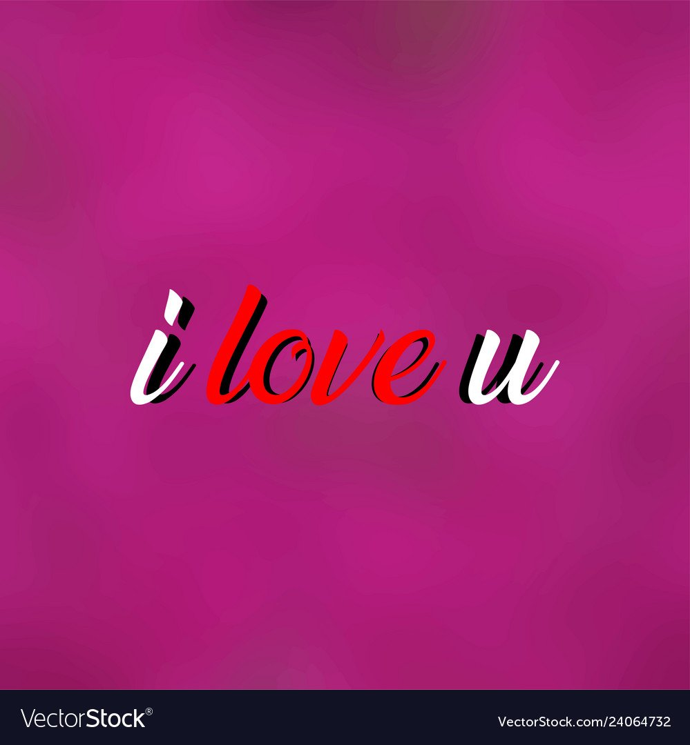 I love you love quote with modern background Vector Image 999x1080