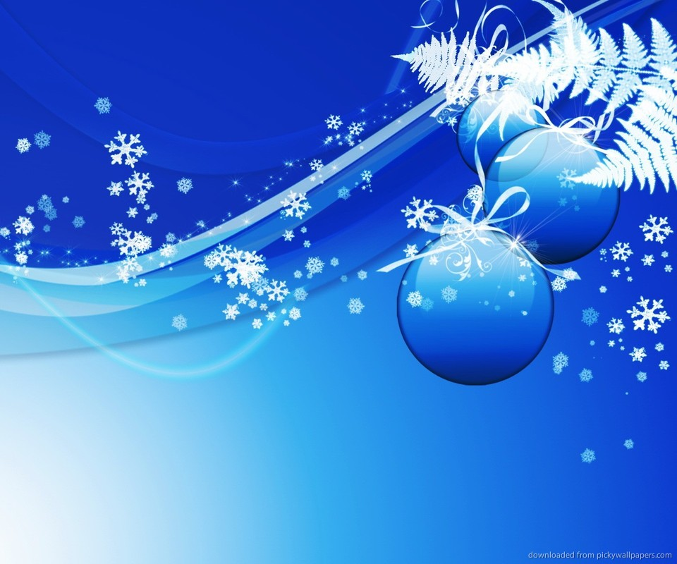 Download Blue Design Christmas Background Wallpaper For Google Nexus S 960x800