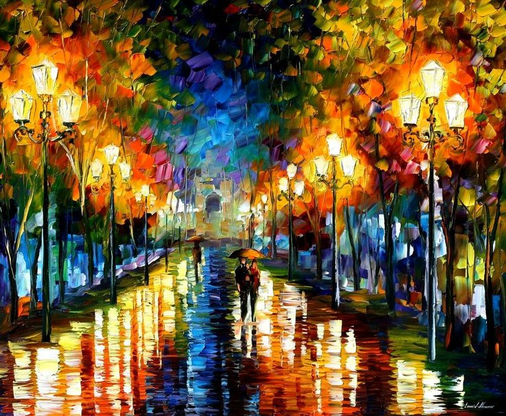 leonid afrmov   noche en la ciudad wallpaper   ForWallpapercom 738x606