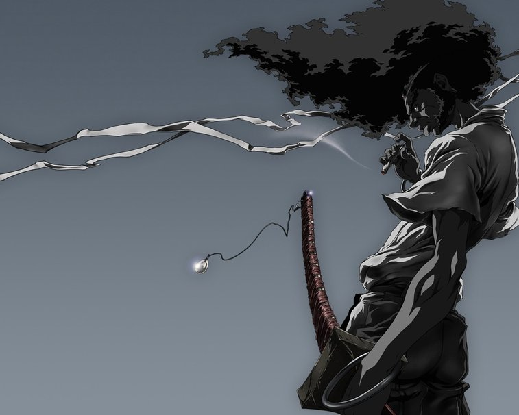 Afro samurai afro samurai cigarette wallpaper   ForWallpapercom 757x606