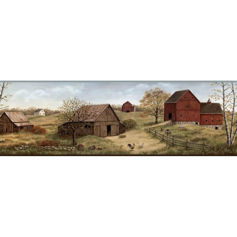 Wallpaper Border Country Farmstead Border 800x800