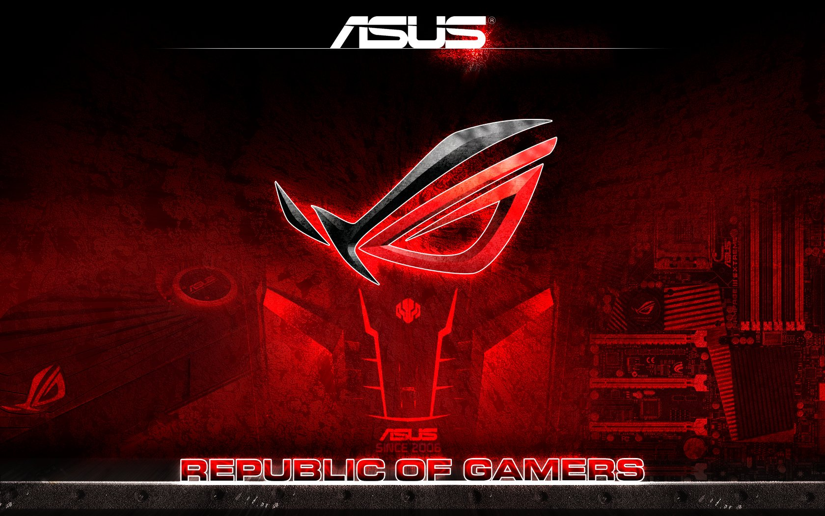 Republic of gaming wallpaper 5760x1080 wallpapersafari for Fond ecran gaming