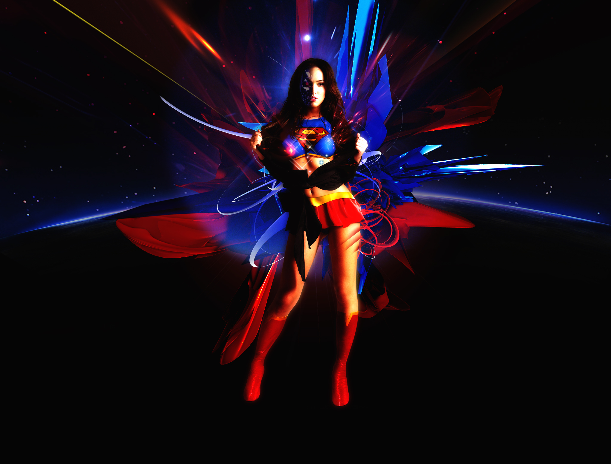 Megan Fox Superman Body Paint 61228 Enews