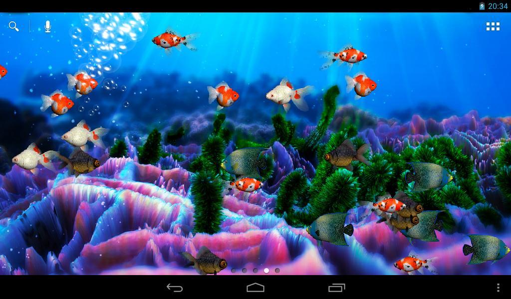 Live Wallpaper Aquarium   screenshot 1024x600