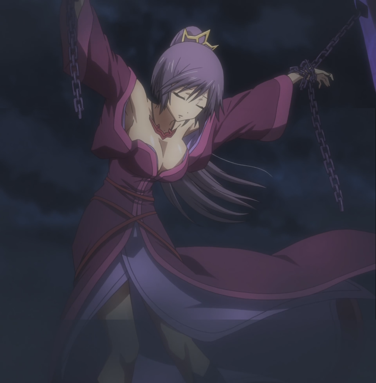 Buxom Purple Haired Maiden from the upcoming Seisen Cerberus Anime 1280x1304