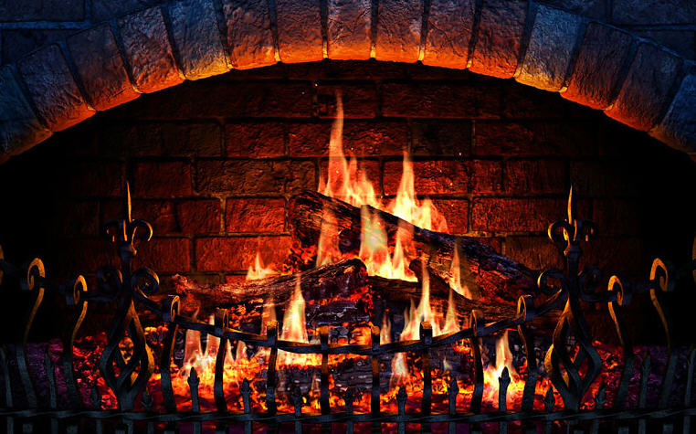 3D Fire Place Screensaver 3D ScreenSaver 762x475