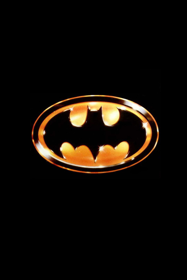 Gold Batman Logo Iphone 4 Black Background photos of Batman iPhone 640x960
