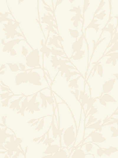 Off White Silhouette Vine Wallpaper   Rustic Country Primitive 400x533