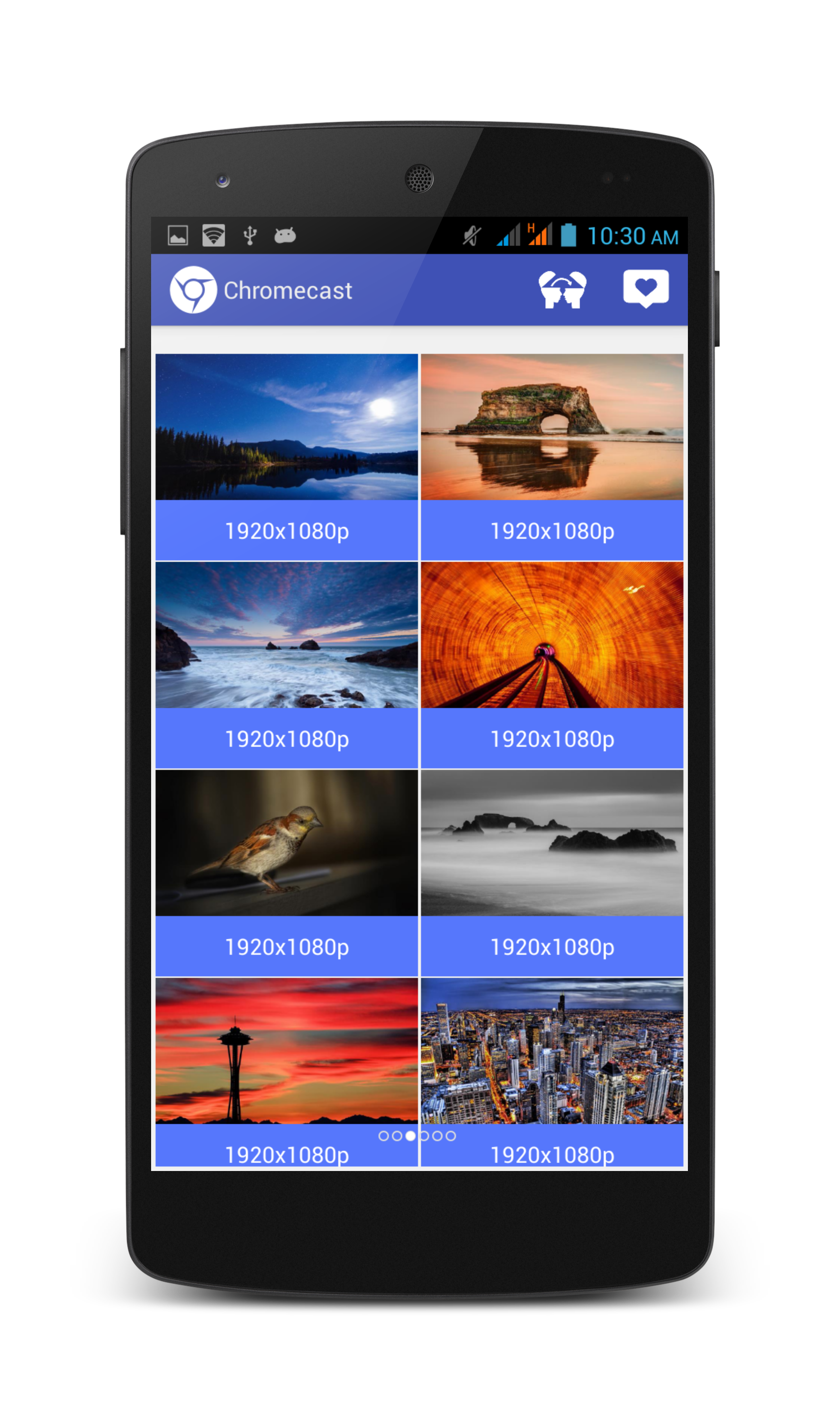 This app of Chromecast Wallpapers is of cost and supports 1690x2857