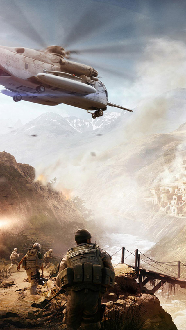 Military action game iPhone 5S Wallpaper iPhone 5s Wallpapers and 640x1136