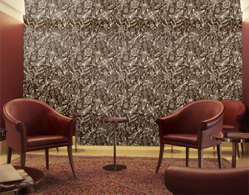 Photo Wall Mural Art Nouveau Monochrome Wallpaper Decor 510x400