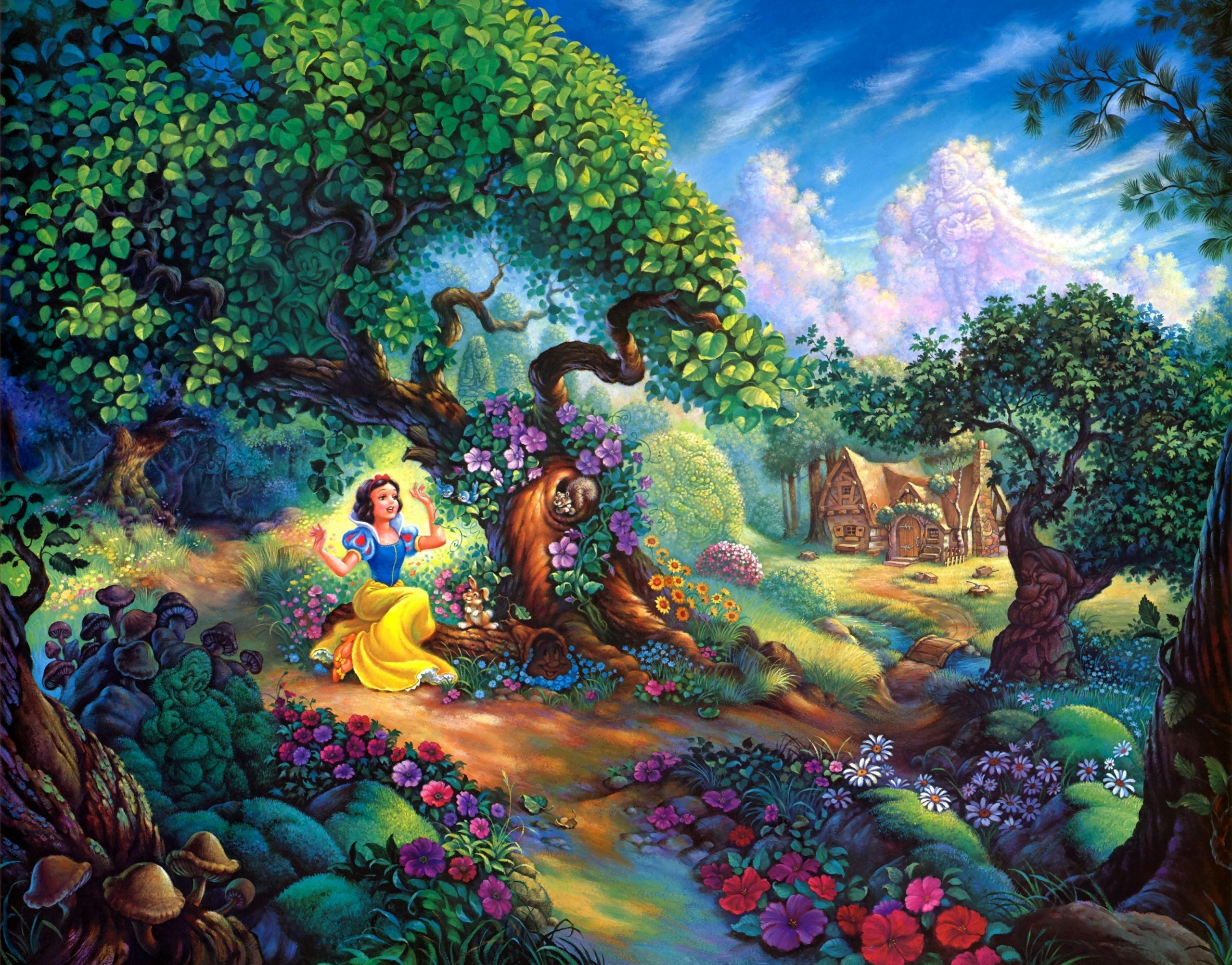 Snow White and the Seven Dwarfs   Disney Princess Photo 2560x2005