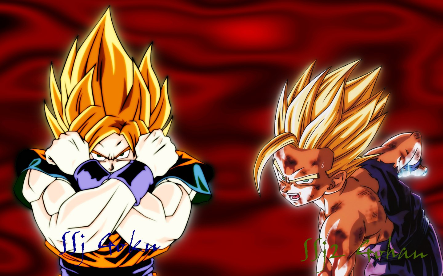 SS Goku And Gohan Wallpaper by kilroy567 on deviantART 1440x900