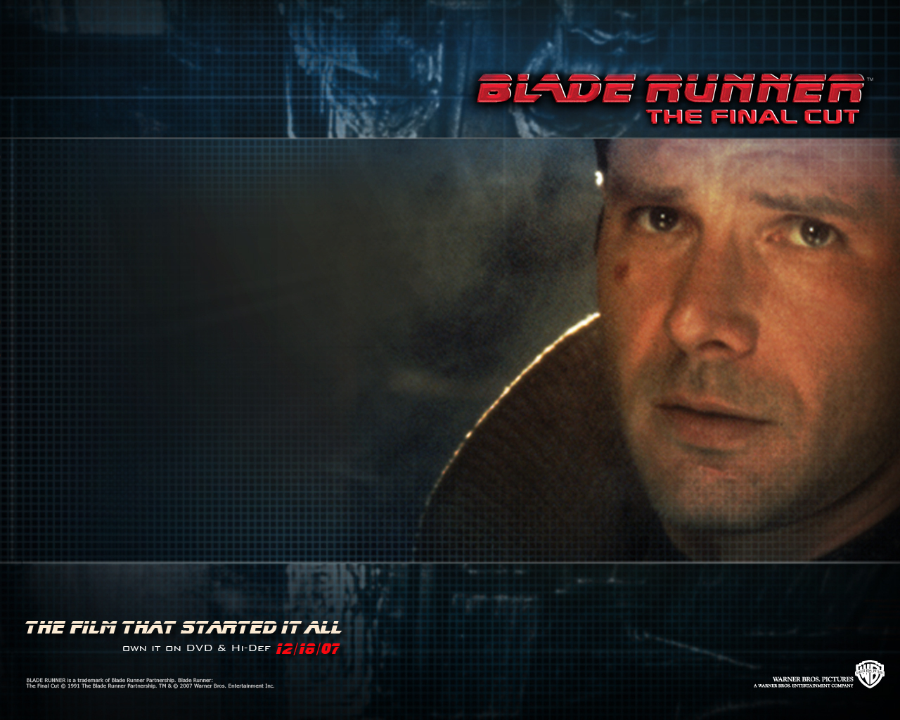 Official Blade Runner Wallpaper   Blade Runner Wallpaper 8207491 1280x1024