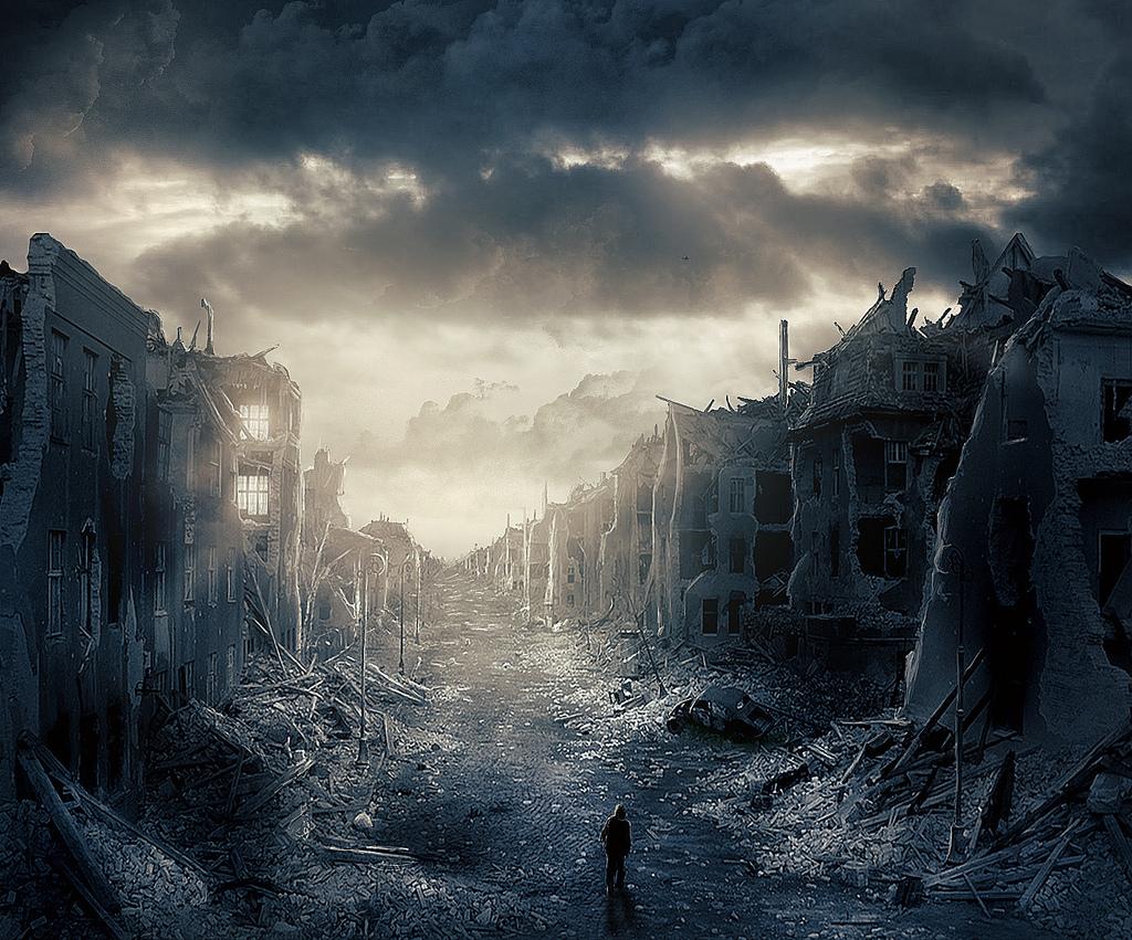 Destroyed City Wallpaper 1024x851