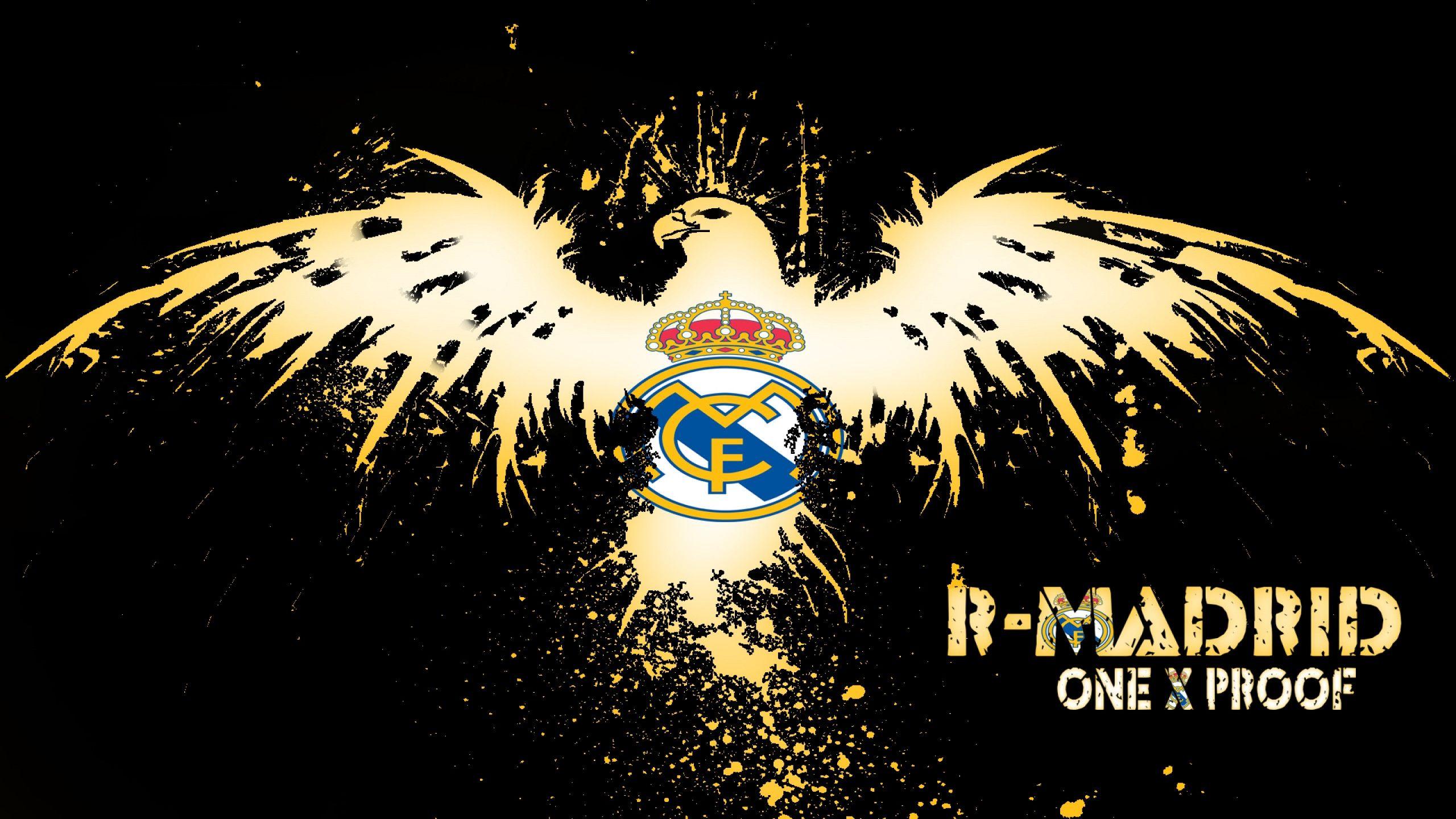 download Real Madrid Cf Logo HD Wallpaper 5389 Wallpaper 2560x1440