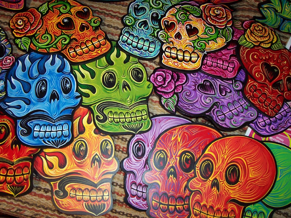 Skulls Dead Wallpaper 1024x768 Day