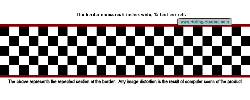 checkerboard border 50s rock and roll 800x320