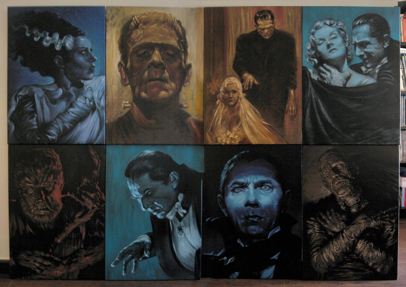 Universal monsters original art 1600x1131