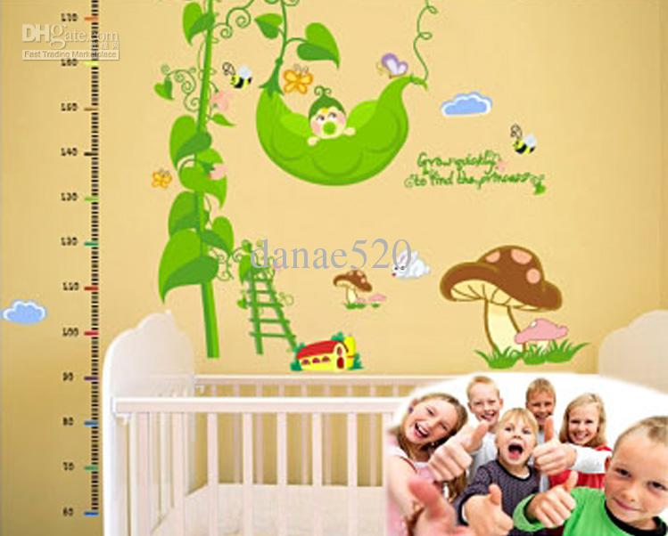 Removable Cartoon Wall Stickers 6090CM Large Wallpaper Stickers Pea 749x602