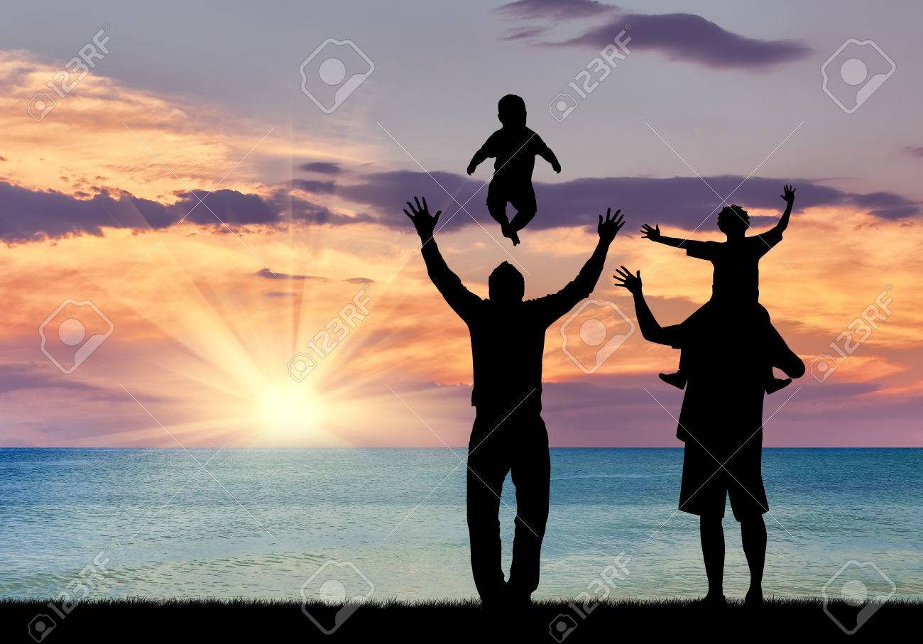 Concept Of Gay Parents Silhouette Of Happy Gay Parents With 1300x907
