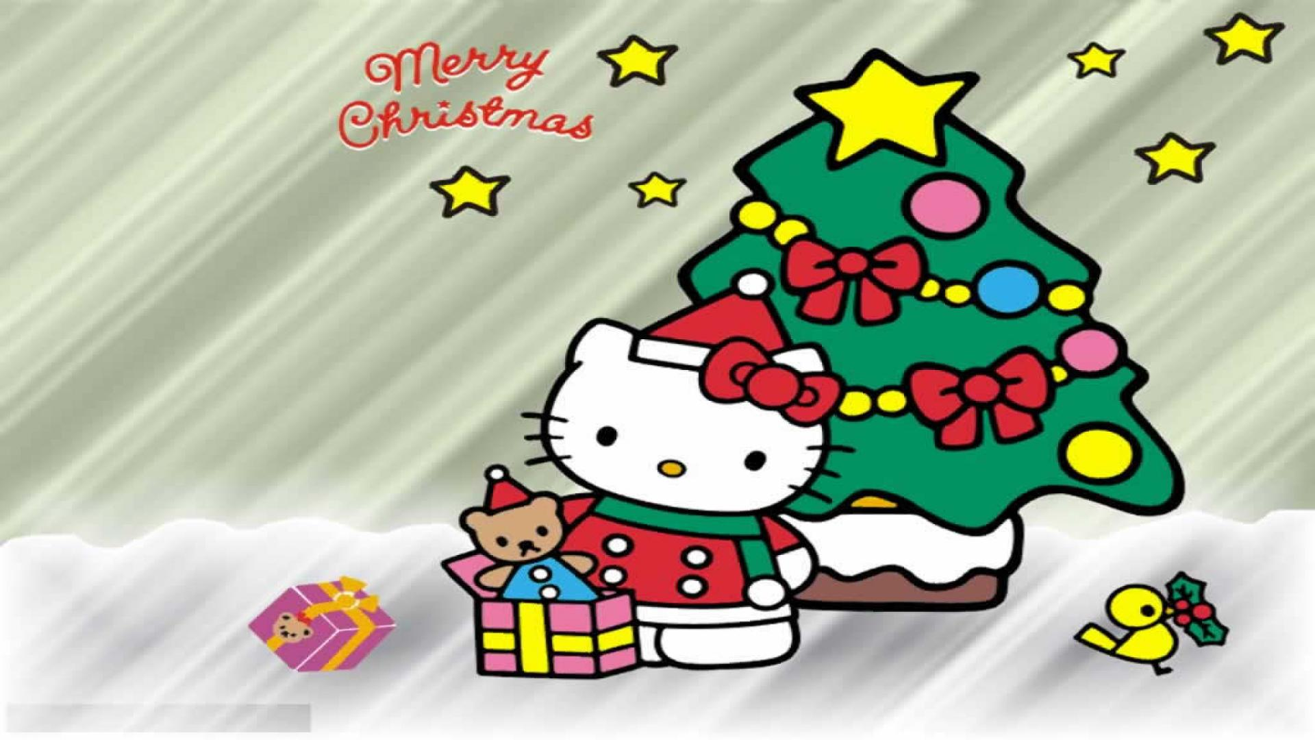 hello kitty merry christmas wallpaper wallpapersafari