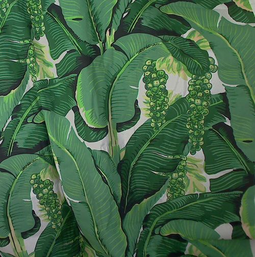 Cote DAzure   Brazilliance Banana Leaves and Grapes FABRIC [MIS 500x504