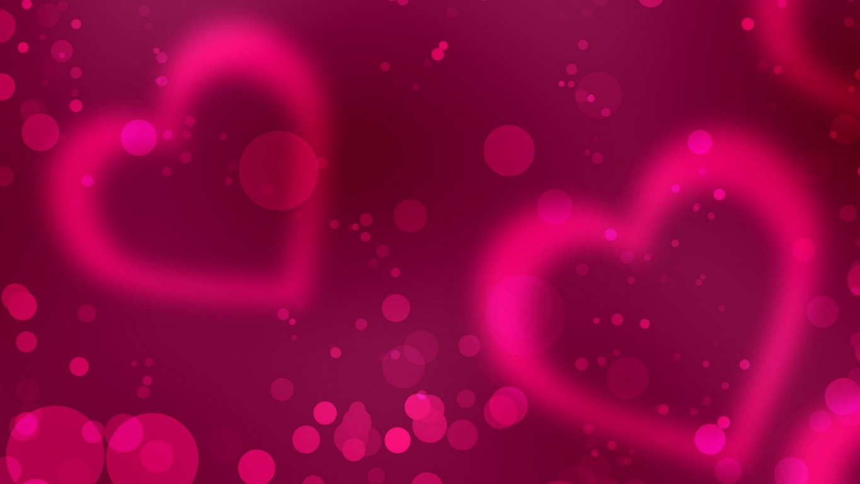 Love Pink Wallpaper Hd: Pink Love Heart Backgrounds