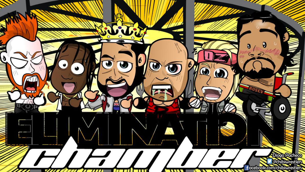 Elimination Chamber 2015   WWE Chibi Wallpaper by kapaeme 1191x670