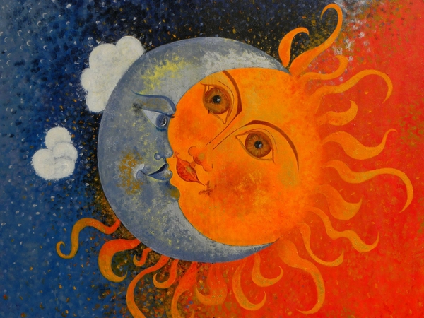 Sun Moon Stars Wallpaper