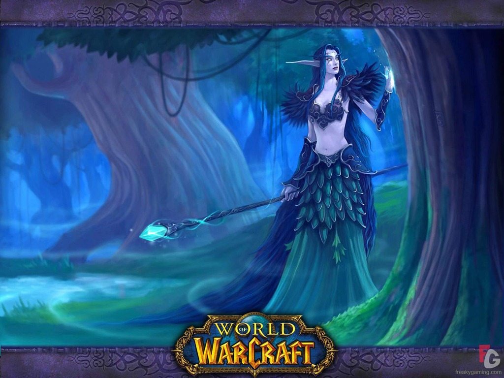 wow wallpaper night elf funny gif pictures 1024x768