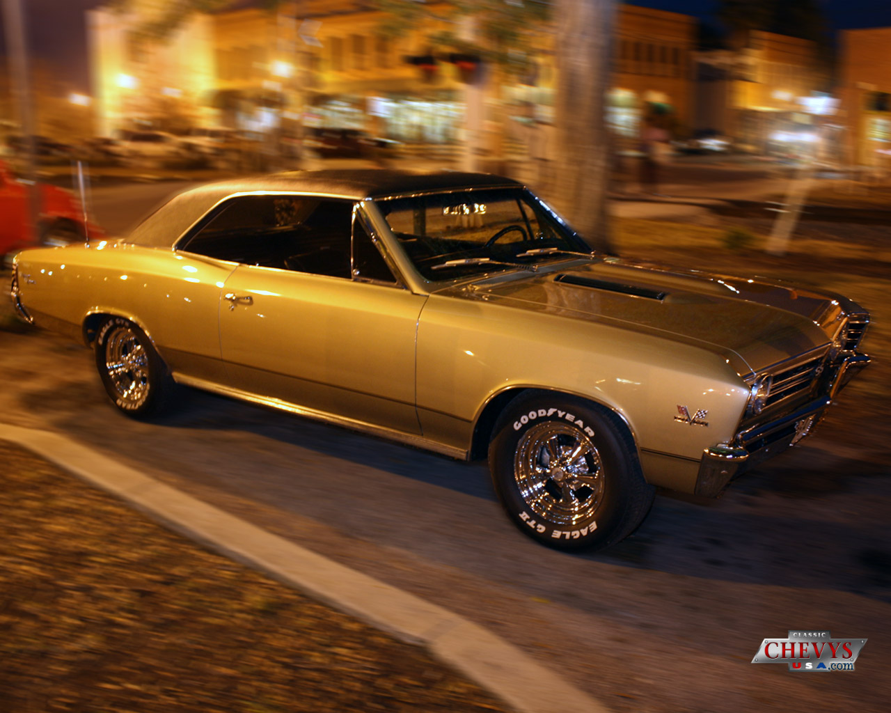 67 chevelle ss with blower wallpaper 1280x1024