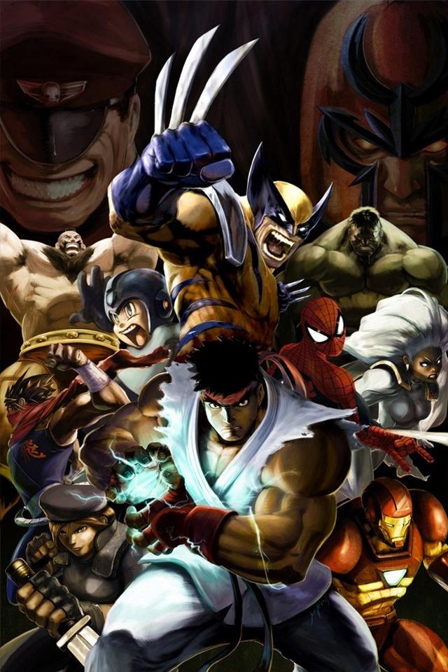 Marvel Vs Capcom download wallpaper for iPhone 640x960