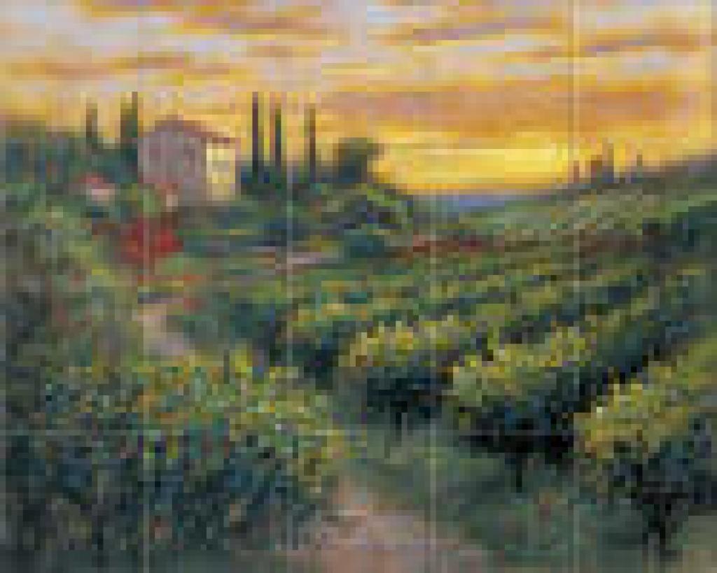 Tuscan tuscany scenes kitchen backsplash tile murals accent tiles 1024x819