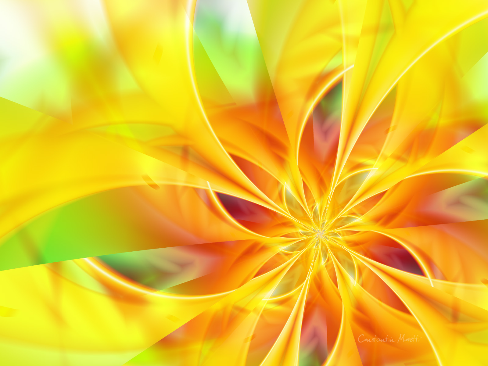 Abstract Cool Wallpaper 1600x1200 Abstract Cool Yellow 1600x1200