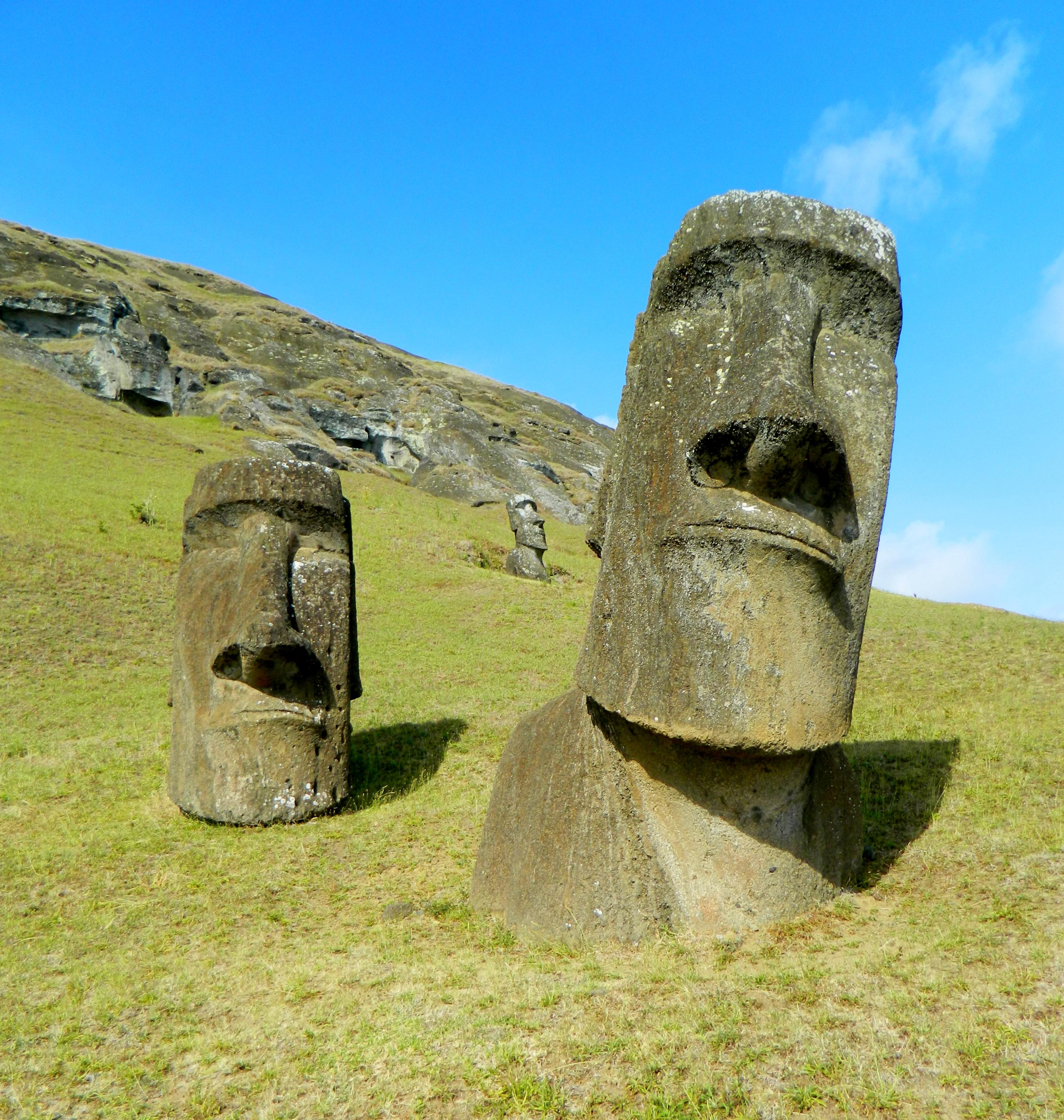 Moai Statues Easter Island Wallpaper [ Moai Monolithic Human Figures 3240x3410