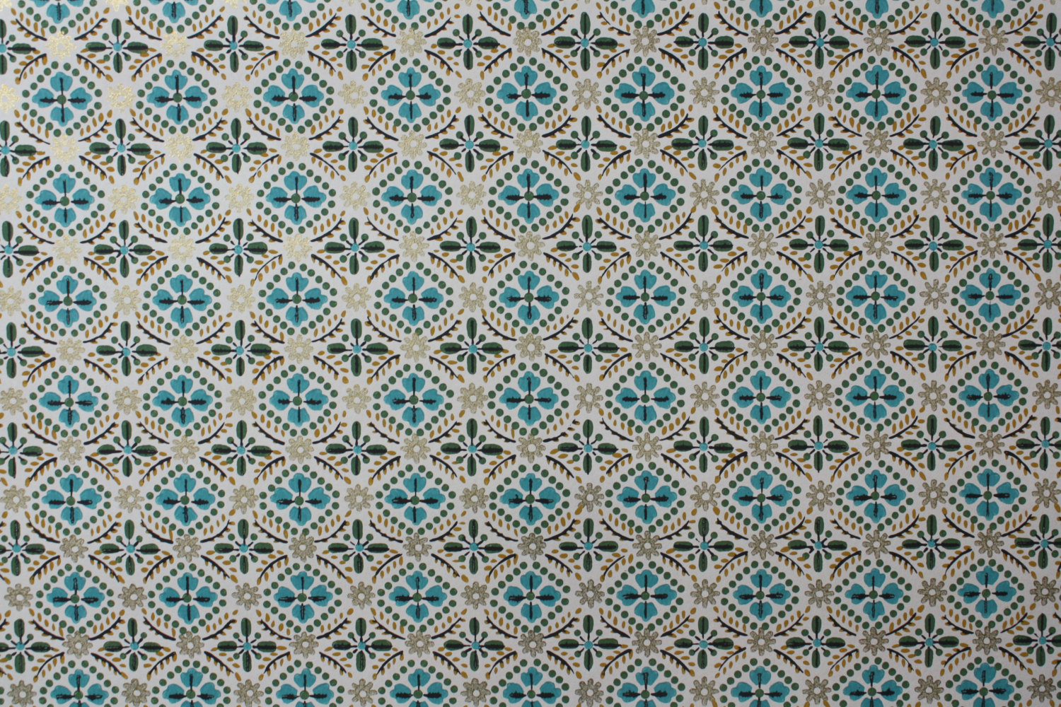 Items similar to 1940s Vintage Wallpaper   Aqua Blue Green and 1500x1000