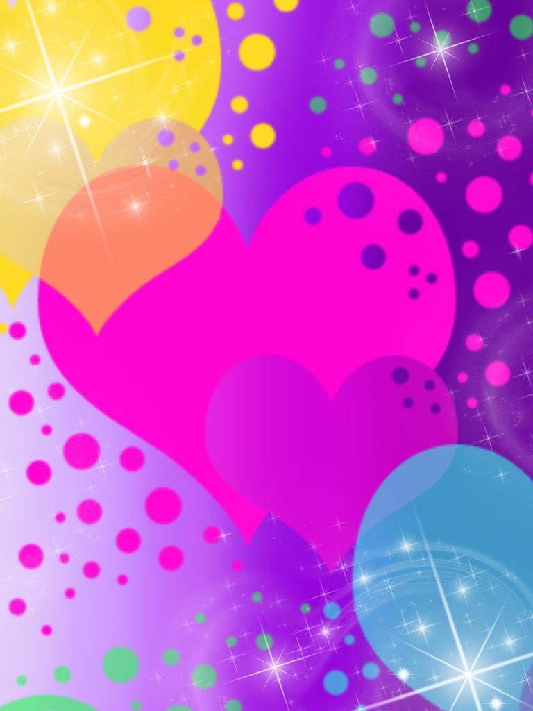 Rainbow Heart Wallpaper - WallpaperSafari