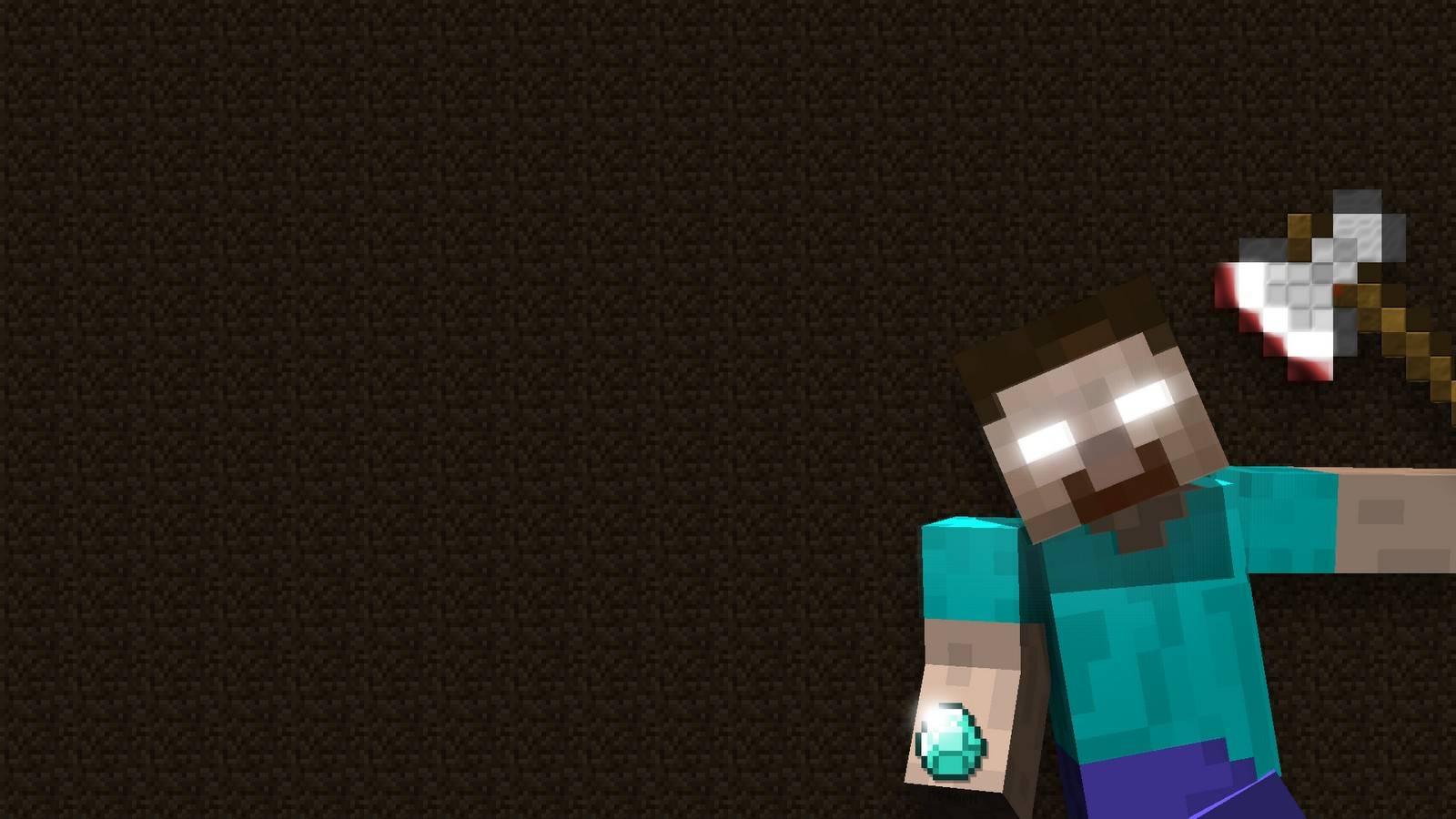 Funny Herobrine HD   Minecraft Wallpaper 1600x900
