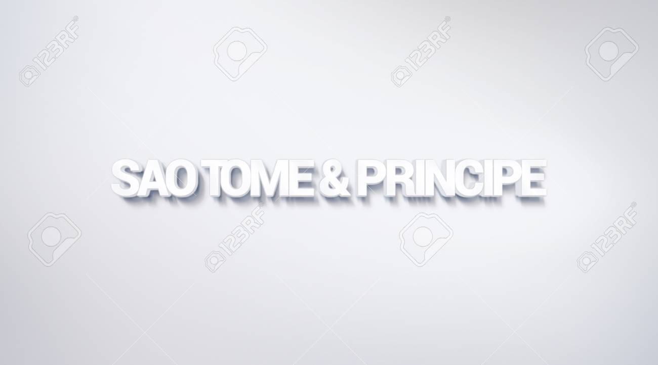 Sao Tome And Principe Text Design Calligraphy Typography Poster 1300x722