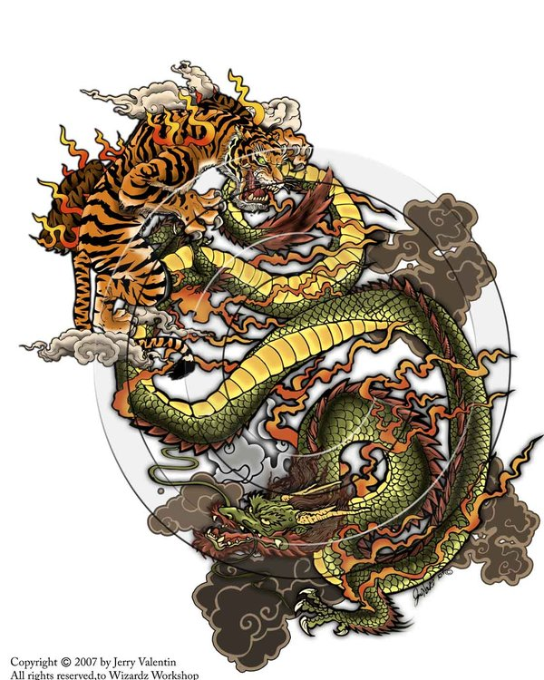 dragon vs tiger wallpaper image search results 600x750