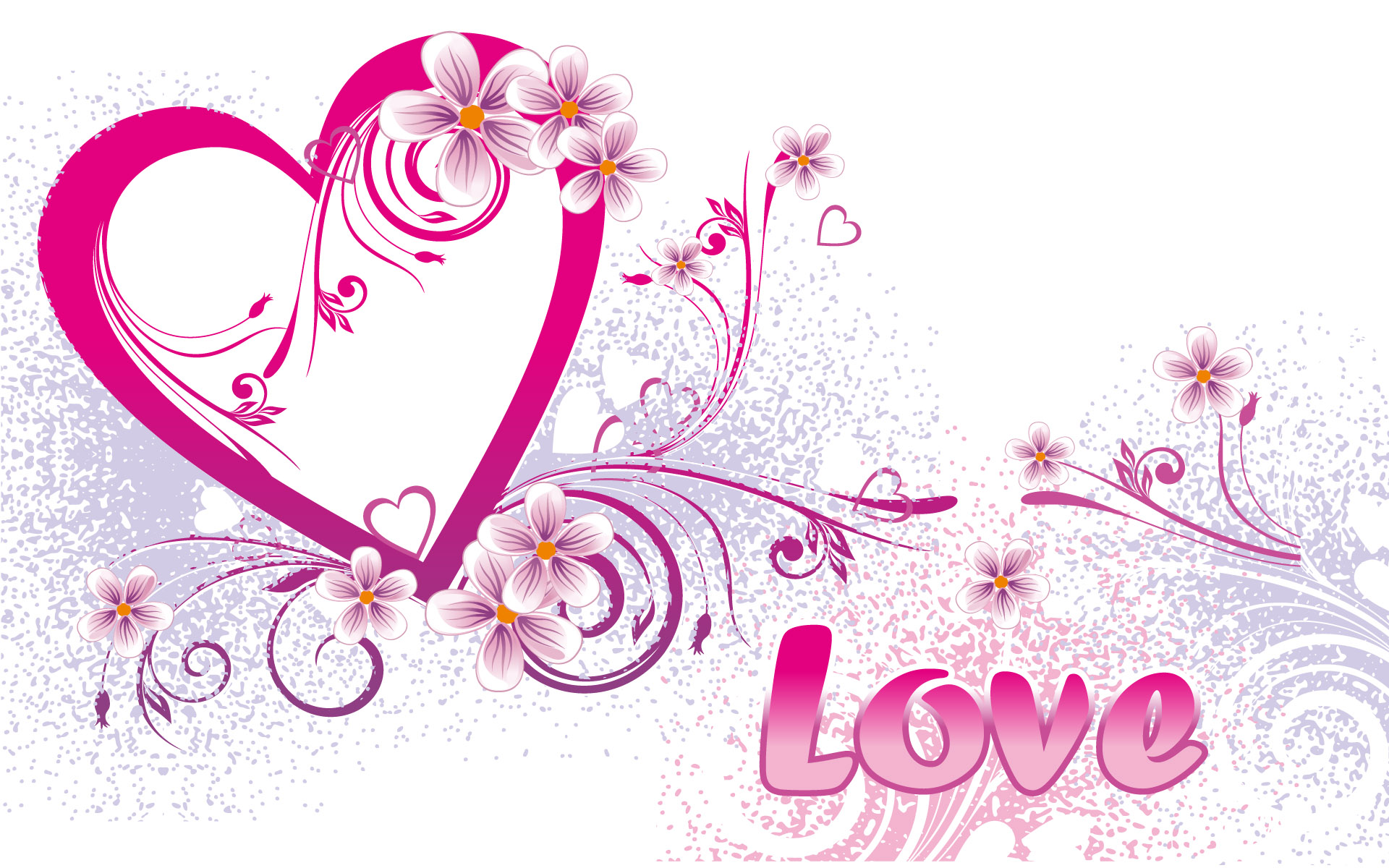 Valentines Day Love Heart Wallpaper Pink Printable Coloring 1920x1200