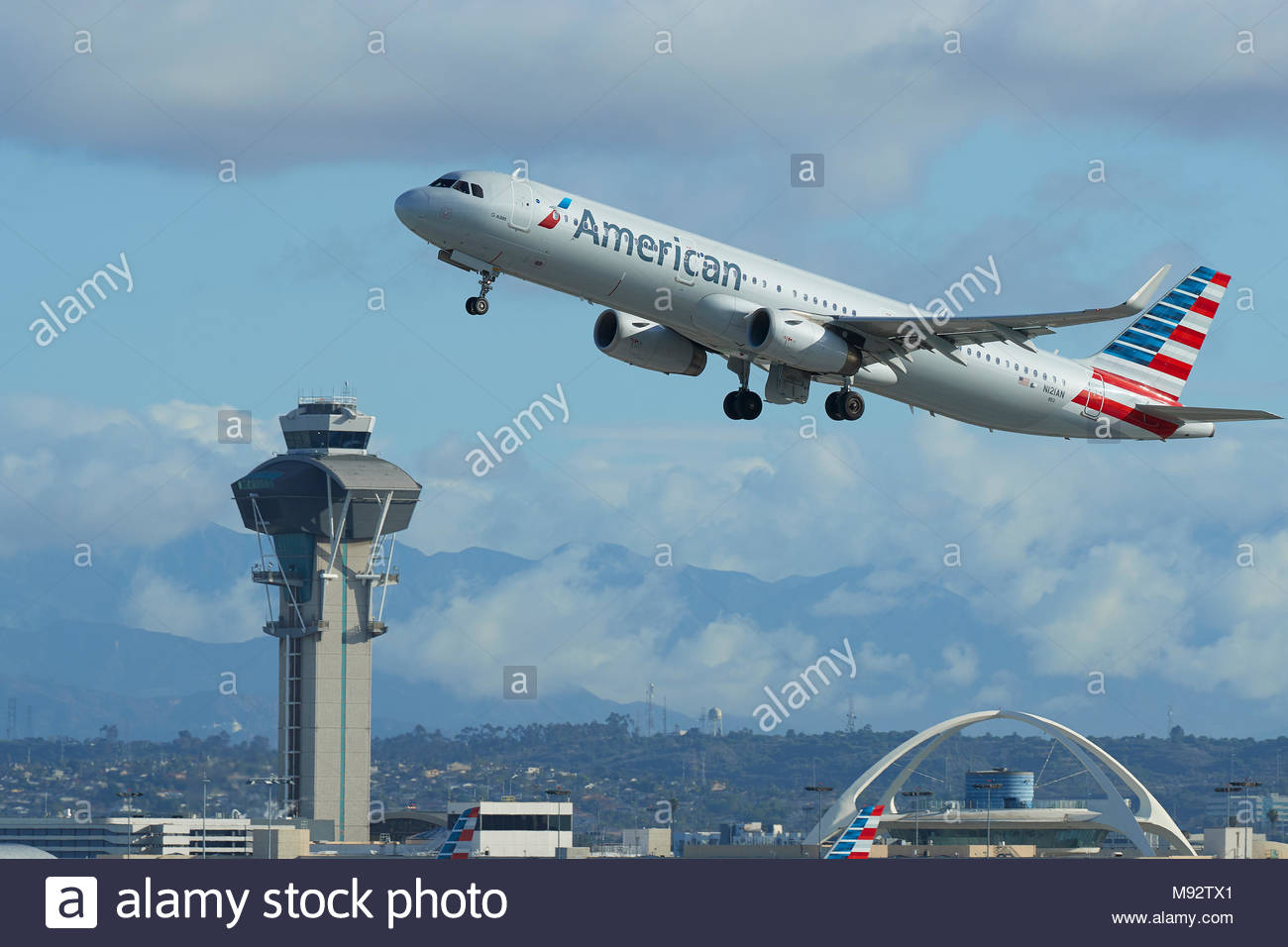 American Airlines Airbus A321 Airliner Taking Off From Los 1300x956