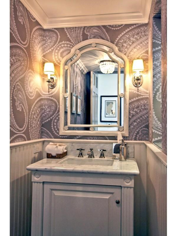 49 Elegant Powder Room Wallpaper On Wallpapersafari