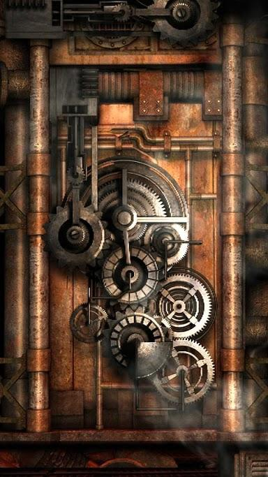 Steampunk Background Iphone Steampunk live wallpaper gears 384x683