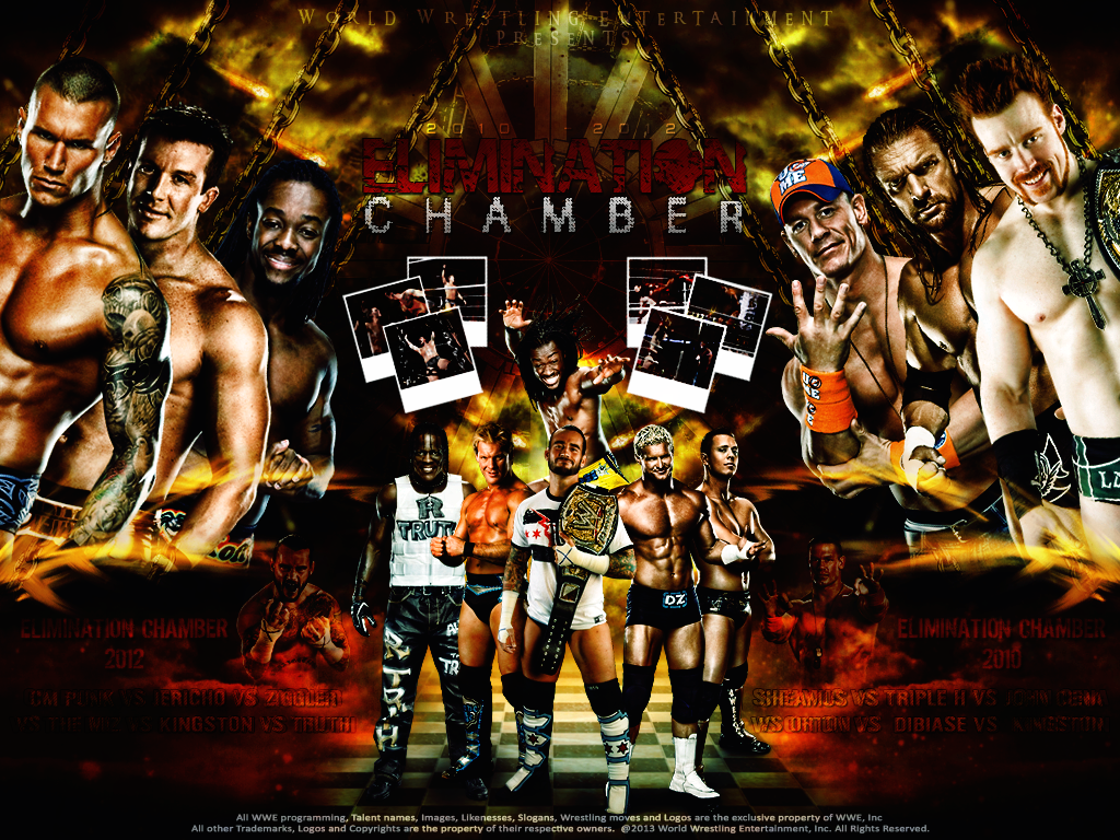 WWE Elimination Chamber 2010   2012 Wallpaper by 1024x768