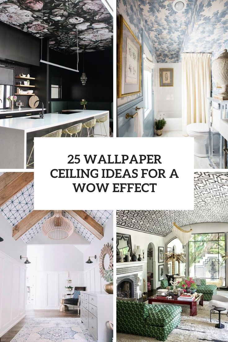 25 Wallpaper Ceiling Ideas For A Wow Effect   DigsDigs 735x1102