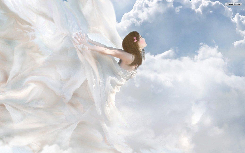 YouWall   Flying Angel Wallpaper   wallpaperwallpapersfree wallpaper 1440x900